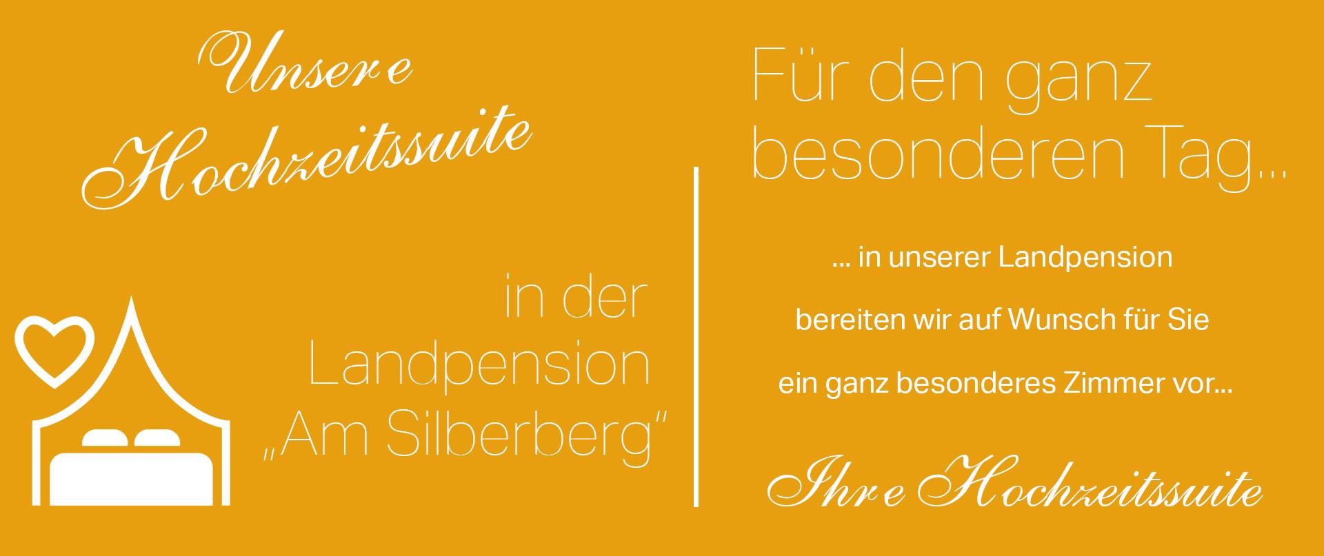 Hochzeitssuite in der Landpension Am Silberberg